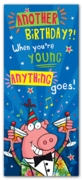 GREETING CARDS,Birthday 6's Anything Goes