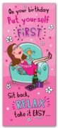 GREETING CARDS,Birthday 6's Put Yourself First