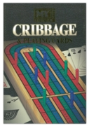 CRIBBAGE SET,Folding  Wooden Board 9 Scoring Pegs I/bxd.