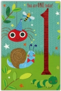 GREETING CARDS,Age 1 Male 12's Dinosaur/Insects & Bugs