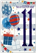 GREETING CARDS,Age 11 Male 12's Pastimes/Balloons
