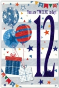 GREETING CARDS,Age 12 Male 12's Pastimes/Balloons