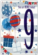 GREETING CARDS,Age 9 Male 12's Pastimes/Balloons