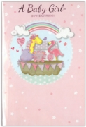 GREETING CARDS,Baby Girl 6's Animals on an Ark