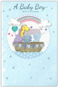 GREETING CARDS,Baby Boy 6's Animals on an Ark