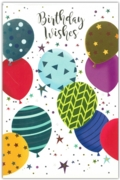 GREETING CARDS,Birthday 6's Balloons