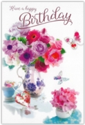 GREETING CARDS,Birthday 6's Floral