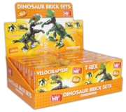 BUILDING BRICKS,Dinosaur 3in1 M-Y 100pc.plus Asst.Age 6+ Bxd