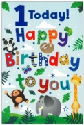 GREETING CARDS,Age 1 Male 12's Animals/Space & Robots