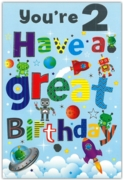 GREETING CARDS,Age 2 Male 12's Animals/Space & Robots