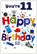 GREETING CARDS,Age 11 Male 12's Pastimes
