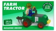 BUILDING BRICKS, FARM TRACTOR, 39pc,2 Asst.Age 6+ Boxed CDU
