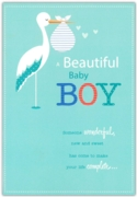 GREETING CARDS,Baby Boy 6's Stork