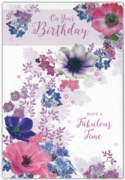 GREETING CARDS,Birthday 12's Floral