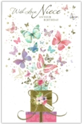 GREETING CARDS,Niece 6's Presents & Butterflies
