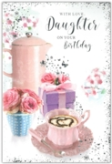 GREETING CARDS,Daughter 6's Coffee & Present Floral
