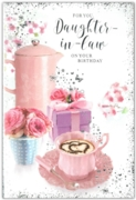 GREETING CARDS,Daughter in Law 6's Coffee & Present Floral