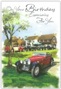 GREETING CARDS,Birthday 6's Vintage Cars