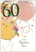 GREETING CARDS,Age 60 Female 6's Balloons