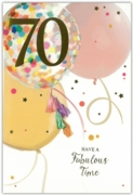 GREETING CARDS,Age 70 Female 6's Balloons