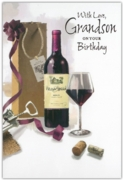 GREETING CARDS,Grandson 12's Wine