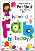 GREETING CARDS,Birthday 6's Balloons & Stars