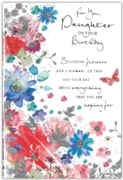GREETING CARDS,Daughter 6's Glitter Floral