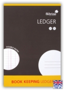 BOOK KEEPING,A4 Double Entry Ledger