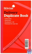 DUPLICATE BOOK,Delivery Note 8.25x5/206x125mm (£4.39)
