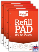REFILL PAD,A4 Ft.& M Silvine 160 page(Carton Price,4x6pc)