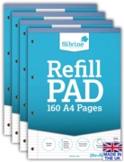 REFILL PAD,A4 N.Ft.& M Silvine 160 page(Carton Price,4x6pc)