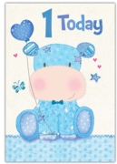 GREETING CARDS,Age 1 Male 6's Hippo