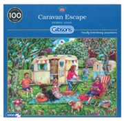JIGSAW,1000pc.Caravan Escape, (Gibson)