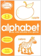 ACTIVITY BOOK,First Learning, Alphabet (3-5 Years)