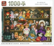 JIGSAW,1000pc.Grandmothers Dresser, Dolls & Teddies, King