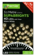 LIGHTS,Supabrights Warm White LED 40's Boxed (Was 9.99)