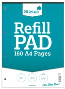 REFILL PAD,A4 Dots 5mm Silvine 160 page(Carton Price,4x6pc)
