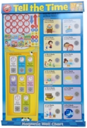 WALL CHART,Magnetic Tell Time (Was 8.99)