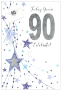 GREETING CARDS,Age 90 Male 6's Stars