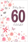 GREETING CARDS,Age 60 Female 6's Floral