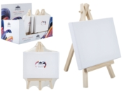ARTIST CANVAS,Blank Stretched Cotton on Easel 16 x 12cm