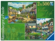 Jigsaw 2x500pc,Village Life (Ravensburger)