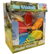 GARDEN WINDMILL, BEE DESIGN 26cm 10in H/pk CDU