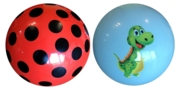 BALL, 9in DINO & SPOTTED Asst Printed Play Ball