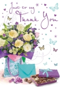 GREETING CARDS,Thank You 6's Flowers & Chocolates