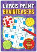 ACTIVITY BOOK,Brain Teasers, Large Print