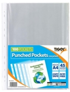 POLY POCKETS,A4 100's Recycled 45 micron (Tiger)