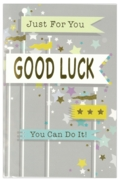 GREETING CARDS,Good Luck 6's Flags & Stars