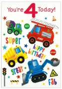 GREETING CARDS,Age 4 Male 12's Robots/Vehicles