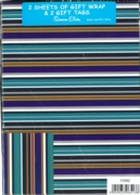 GIFT WRAP PACKETS, Male Stripes H/pk